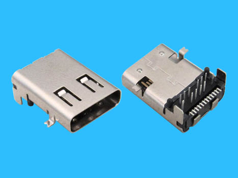 Usb female dip 90 24 pin c type