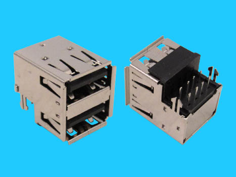 usb socket 2x01 dip 90 a type