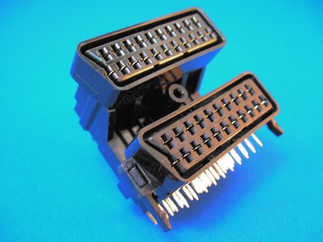 Scart stack 2x01 Female 90